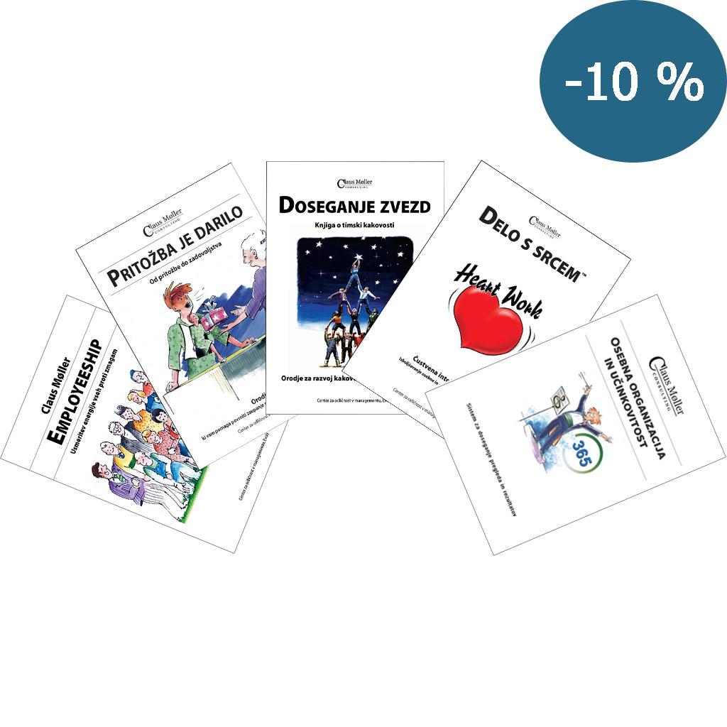 Komplet 5 knjig za celostni razvoj podjetja